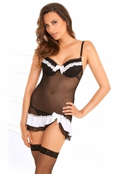 Maiden of the Morning Chemise, Sexy Black Chemise, Maid Lingerie