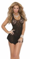 See Through Lave Chemise, Black Lace Lingerie, Plus Size Lingerie Dress