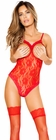 Lace Open Cup Red Teddy