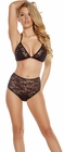 Lace Triangle Top Lingerie Set