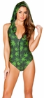 Leaf Hooded Green Romper