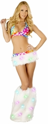 Ravewear, Carnical Clothing, Samba Festival Clothing, Light Up Skirt and Halter Top Set