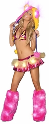 Skirt Set Ravewear, Funky Rave Clothing, Carnival Clothing, Light Up Skirt and Top