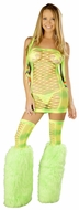 Neon Net Dress, Fishnet Tube Dress, Neon Lingerie, Neon Net Lingerie