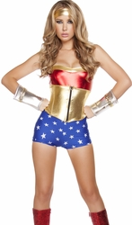 Superhero Costumes, Wonder Woman Costumes, Lusty American Superheroine Costume