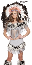 Lusty Indian Maiden Native American Costume, Indian Costume, Native American Women's Costume