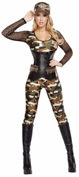 Lusty Lieutenant Army Camouflage Costume, Lusty Lieutenant Costume, Army Costume for Women