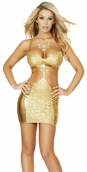 Metallic Snake Print Mini Dress, Roma 3150, New Clubwear