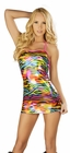 Metallic Rainbow Zebra Dress