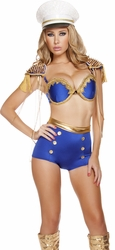 Military Diva Halloween Costume, Deluxe Sailor Costume, Women Sailor Costume