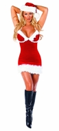 Miss Santa, Women's Christmas Outfit, Mrs Santa Costume