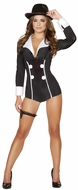 Mobster Babe Romper Costume, Women Gangster Costume, Roma Costume 4504