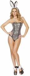 Naughty Rabbit Costume, Deluxe Rhinestones Romper, Bunny Rabbit Costume