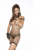 Net Mini Lingerie Dress, Net Dress, Dancewear