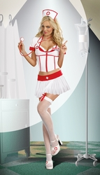 Nurse Anita B Naughty, Sexy Reversible Nurse Costume, White and Red Nurse Costume