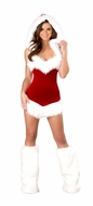 One Piece Hooded Christmas Beauty, Christmas Costume for Women, Christmas Party Dress