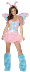 Pastel Butterfly Bodysuit and Headband, J Valentine CA130, Butterfly Women's Costume