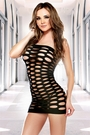 Pothole Black Lingerie Dress