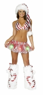 Present Skirt and Top Set, Christmas Costume for Women, Christmas Skirt and Top
