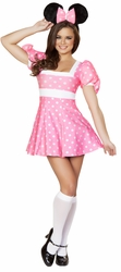 Pretty In Pink Mouse Costume, Pink Minnie Costume, Mouse Costume