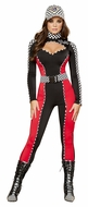 Radiant Racer Costume, Racer Halloween Costume, Adult Women Racer Costume