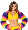 Rainbow Fur Shrug