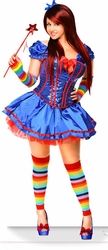 Rainbow Girl Costume, Sexy Rainbow Corset Costume