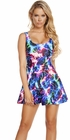 Rainbow Lightning A-Line Mini Dress