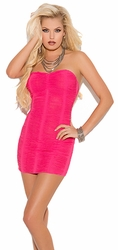 Strapless Dresses, Clubbing Mini Dress, Ruched Party Mini Dress