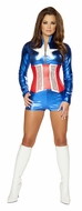 All American Sexy Halloween Costume, Super Heroine Costume, Super Hero Women's Costume
