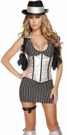 Mafia Mistress Costume, Women Gangster Costume, Lady Gangster Outfit