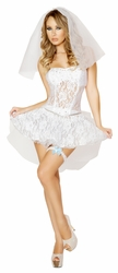 Sexy Newlywed Costume, Bride Costumes, 2014 Bride Lace Costume