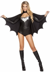 Sexy Night Vigilante Romper , Movie Costumes, Batwoman Costumes