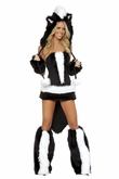 Sexy Skunk Costume, Flower Skunk Costume, J Valentine Skunk Costume