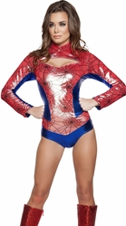 Sexy Spider Woman Costume, Spider Vigilante, Spider Woman Costume 44604