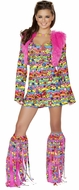 Hippie Chic, Retro Dress Costume, Hippie Costume, Hippie Mini Dress, Shaggy Chic Hippie Costume, J Valentine CA136