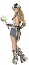 Snow Viking Warrior Costume, Northwoman Costume, Faux Fur Viking Costume, Adult Viking Girl Costume,