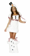 Snowman Mini Dress, Snowman Christmas Mini Dress, White Christmas Women's Costume