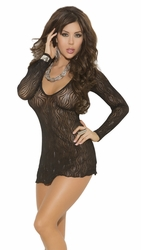Mini Dress with V Neck, Women's Bedroom Lingerie Dress, Elegant Moments 1409