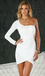 Party Dress, Sexy Clubwear, Clubbing Dresses, Spezia White Mini Dress