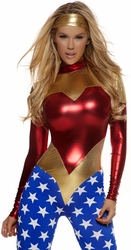 Super Woman Costume, Star Spangled Super Hero Costume