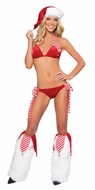 Jingle Bells Bikini Set, Christmas Bikini Set, Stripes and Bells Bikini Set