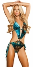 Teal Animal Print Monokini