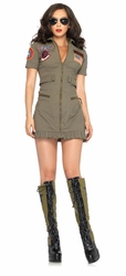 Top Gun Flight Dress, Leg Avenue TG83700