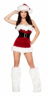Two Piece Mistletoe Cutie, Christmas Party Outfits, Women's Santa Costumes