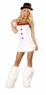 Two Piece Snow Princess, Christmas Costume for Women, Snow Princess White Dress