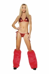 Two Piece Triangle Top and Tie Side and Pucker Back Bottom, Roma Costume 1522LQ