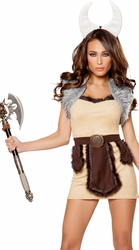 Furry Viking Costume, Warrior Viking Costume, Warrior Costume, Roma Viking Costume 10061