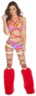 Sexywear, Hearts Wrap Around Top And Shorts, Wrap Around Bikini Top