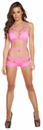 Sexywear, Pink Wrap Around Top And Shorts, Wrap Around Bikini Top